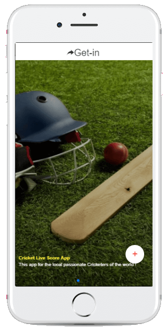 Cricket App Index Screenshot