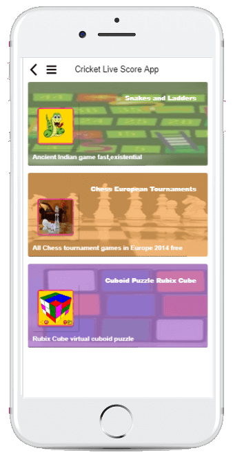 Cricket App More Games Screenshot
